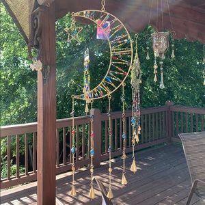 Large Celestial Moon & Star Wind Chime Sun Catcher